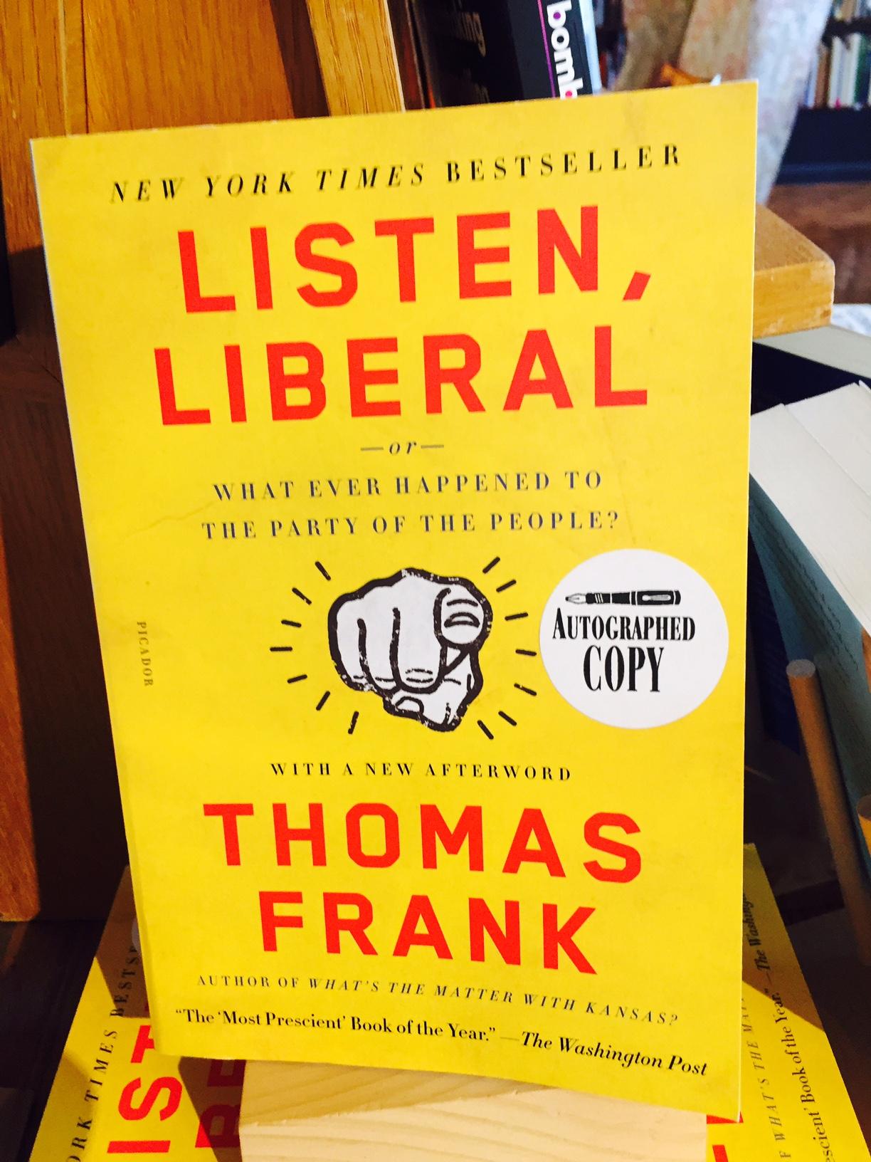 indie bookstore road trip Thomas Frank