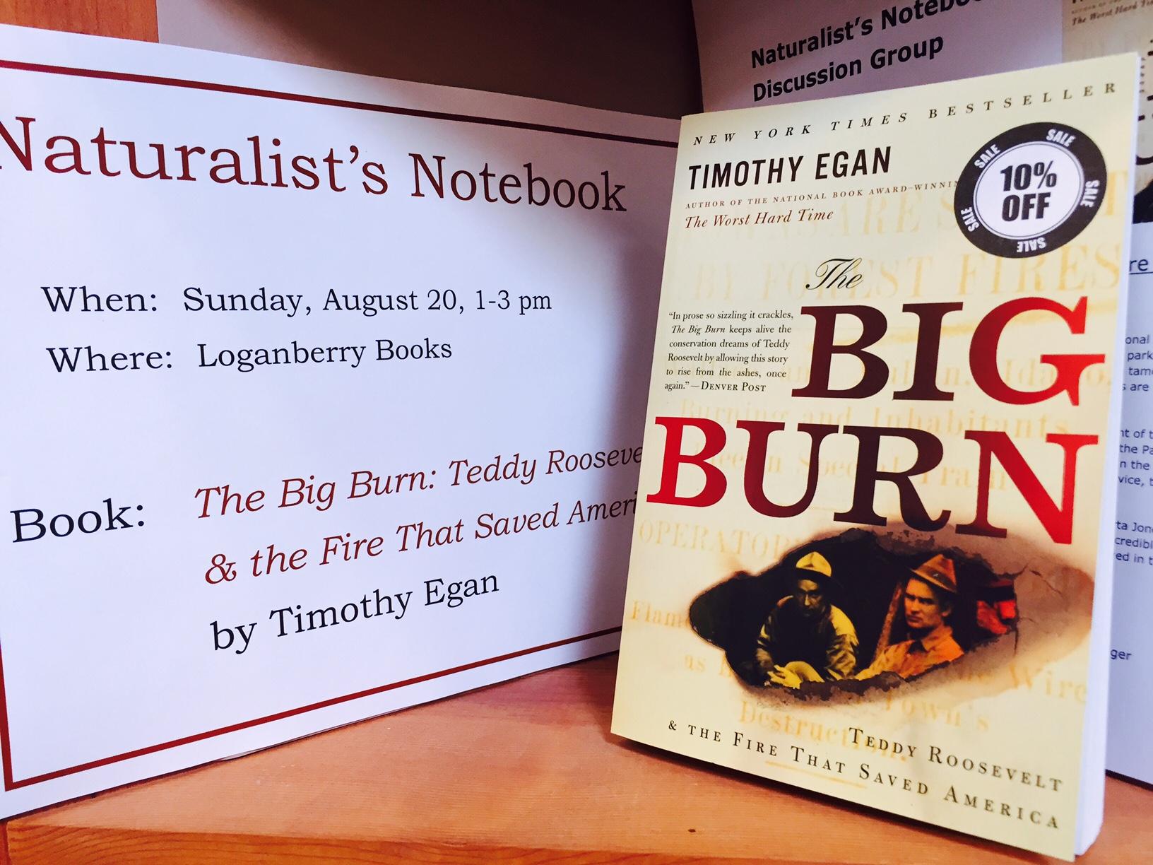indie bookstore road trip Timothy Egan Big Burn