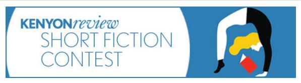 Kenyon Review Short Fiction Contest